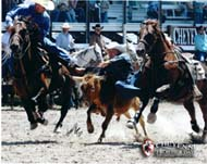 Allen hazing for Linn Churchill on Comanche a home raised gelding