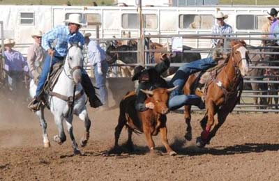 Former student Jamie Wolfe winning at a Little Britches Rodeo